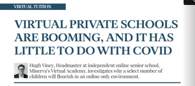 """Featured image for """"Private Schools Magazine – Virtual private schools are booming, and it has little to do with Covid."""""""