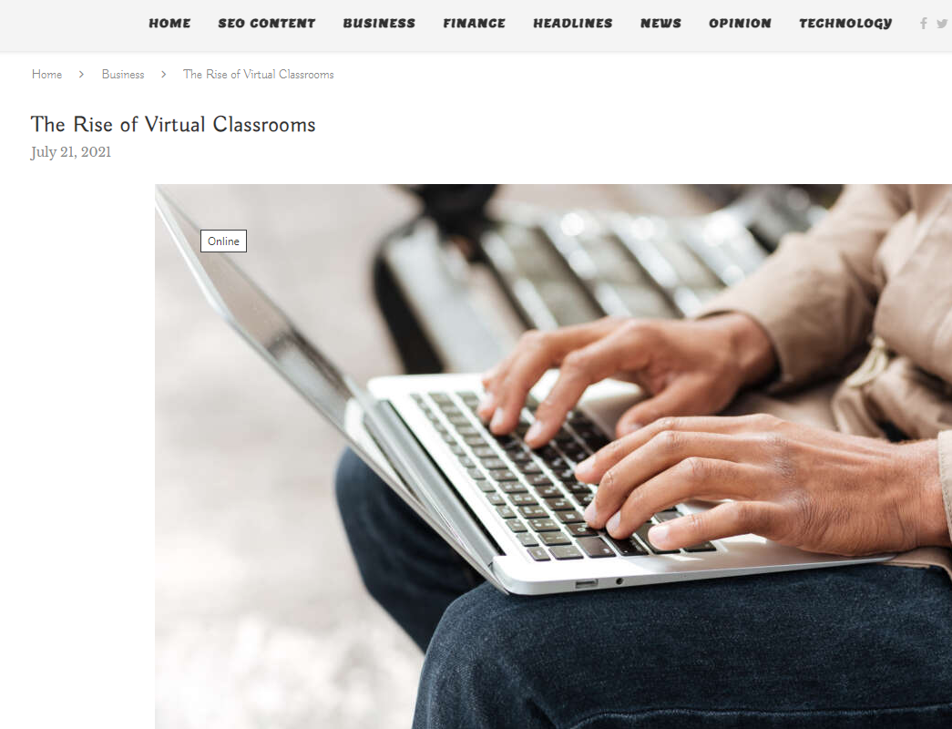 """Featured image for """"Economy Standard – The rise of virtual classrooms."""""""
